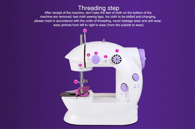 deluxe  sewing machine threading step 202-04