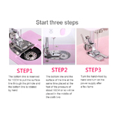 Three steps to start the machine